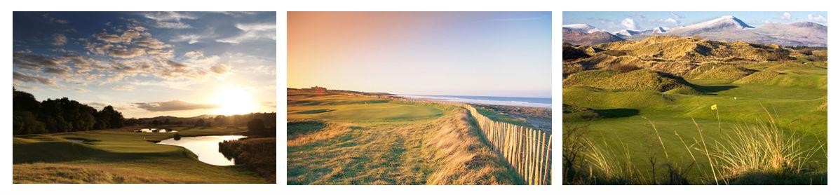 Images des golfs au pays de Galles