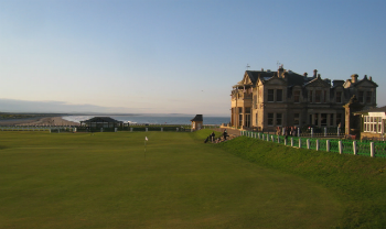 18th green at the world famous Old Course in St Andrews