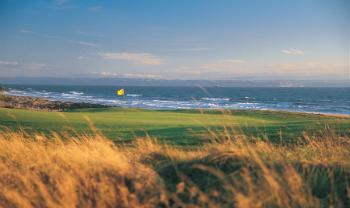Green and Sea at Royal Porthcawl Golf Club
