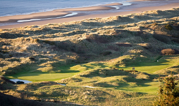 Royal St David's golf course and its dunes