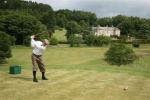 Golfspieler beim Kingarrock Hickory Golfplatz
