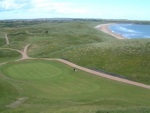 Golfers at Cruden Bay golf course