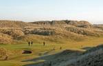 Golfers at Fraserburgh golf course