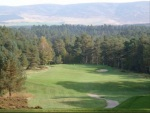 Par 4 downhill at Grantown on Spey golf course