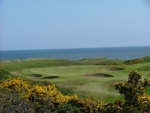 Sea view Balgownie Golf course at Royal Aberdeen