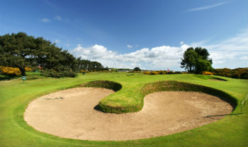 Large bunker at the Carnoustie Classic tournament