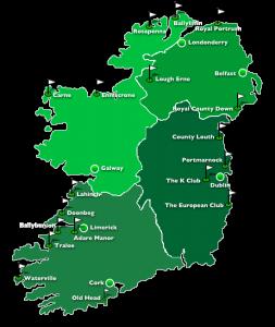 golfplätze irland karte Golfurlaub in Irland