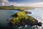 Vista aérea del campo de golf de Nefyn y District