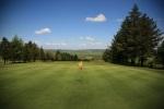 Bandera sobre el campo de golf de Carmarthen
