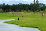 Golfer playing on the Belem Novo golf course