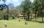 Golfers playing on a fairway at Teresopolis golf course