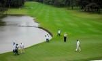 Golfers playing on the Sao Paulo golf course
