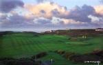 Hoyos sobre el campo de golf de Holyhead