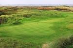 Ancho green sobre el campo de golf de Pyle y Kenfig