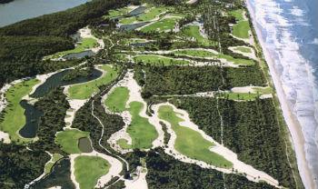 Aerial view of the Comandatuba Ocean Course