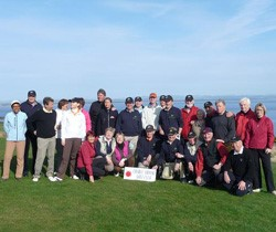 Image of group of golfers on Scotland Golf course in sunshine