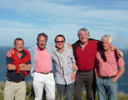 Image of happy golfers on a south west Scottish golf course in sunshine