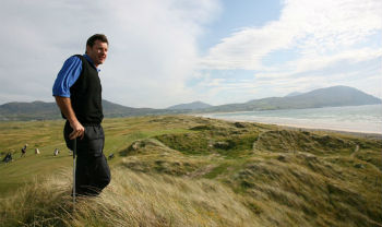Architect Nick Faldo at Ballyliffin Golf Club