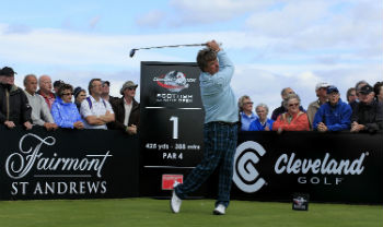 Senior Tour player at the Scottish Open on the Torrance Course at St Andrews