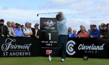 Senior Tour Spieler bei den Scottish Open auf dem Torrance Course in St Andrews