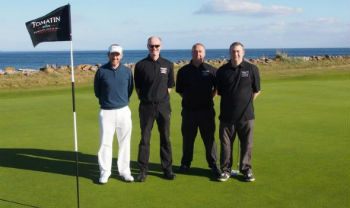 Players at the Tomatin Pro Am in Scotland