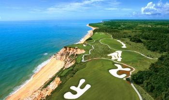 Vue aérienne du parcours de Terravista au Brésil