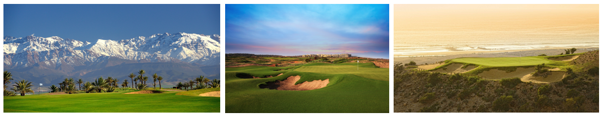 Assoufid, Mazagan and Tazegzout golf courses