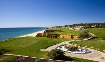 Départ du par 3 face à la mer sur le parcours de Vale do Lobo Royal à Vilamoura en Algarve