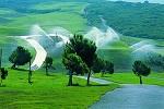 Arrosage du parcours de golf de Belas au Portugal