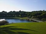 Obstacle d'eau sur le golf de Quinta do Lago 'South' en Algarve